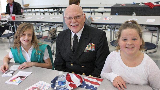 WJCC School Board Member, Jim Nickols attends Storehouse Veteran Breakfast