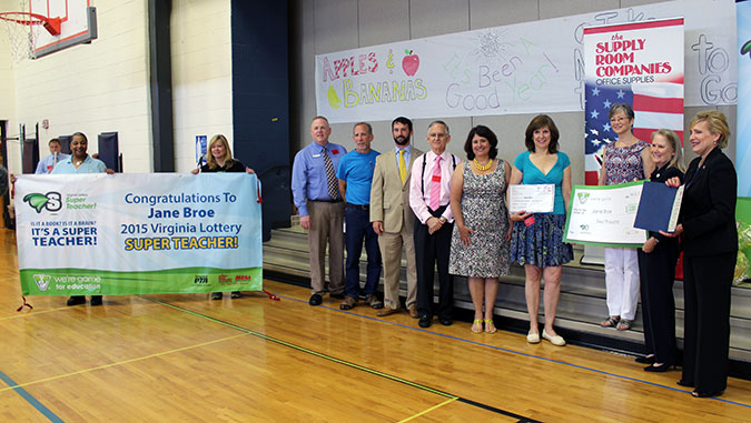 2015 Virginia Lottery Super Teacher of the Year