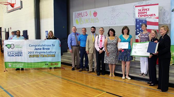 2015 Virginia Lottery Super Teacher of the Year