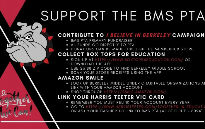 Support the BMS PTA