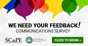 We need your feedback! Take our online Communications Survey now through June 5!