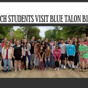 French Students Visit Blue Talon Bistro