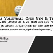 FMI: Coach Jayme Phillips Email: Jphillips0412@yahoo.com