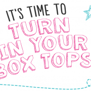 Announcement: Turn in your box tops.