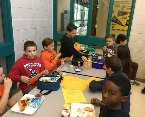 Photo: Mix it up day during 6th grade lunch