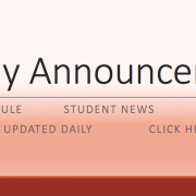 Weekly Announcements - A/B Schedule, Students News, PTA News, Updated Daily, Click Here