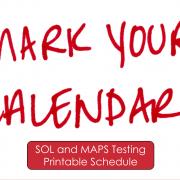 Mark your calendar - Click here for printable calendar