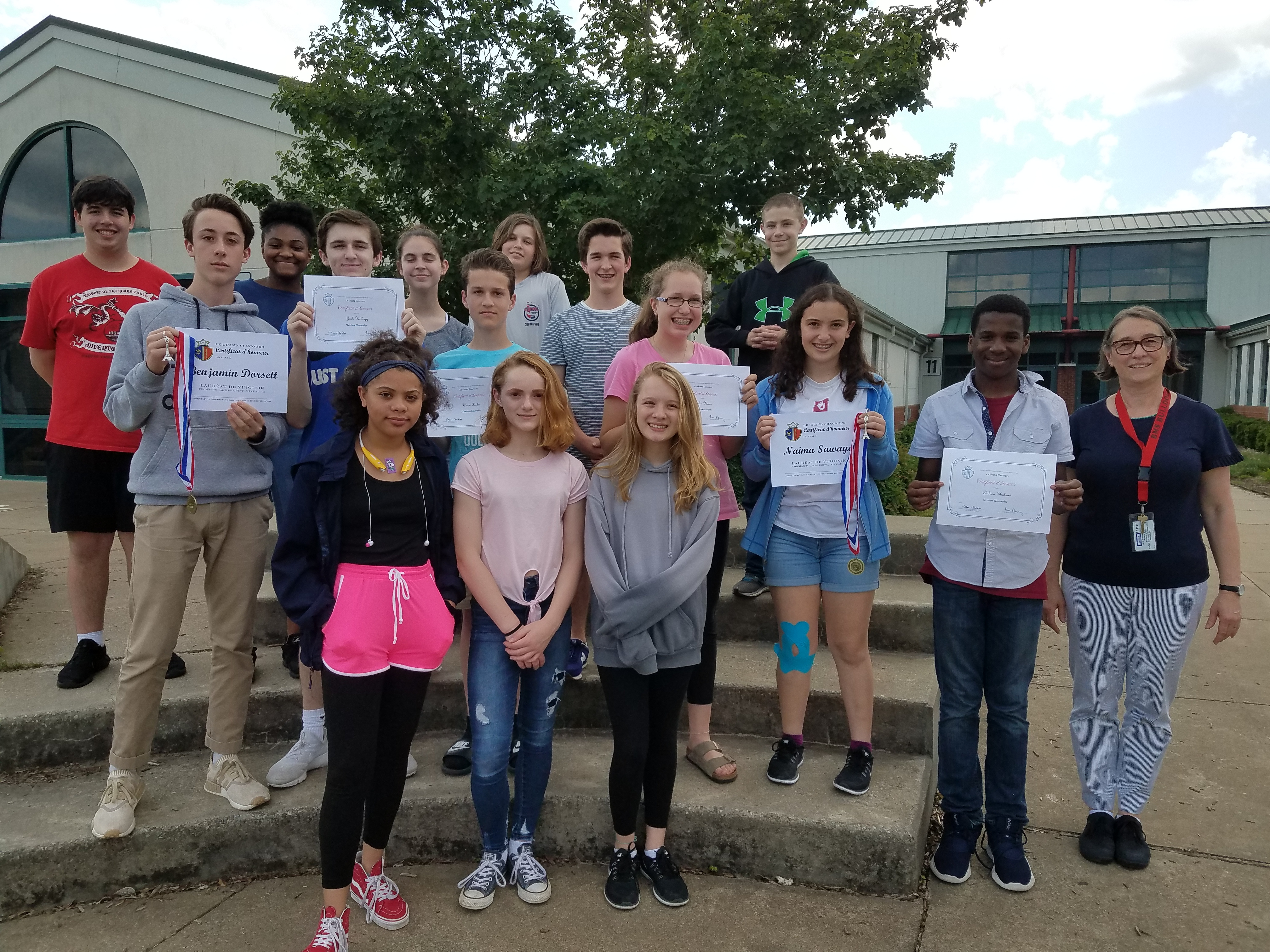 BMS National French Contest Participants