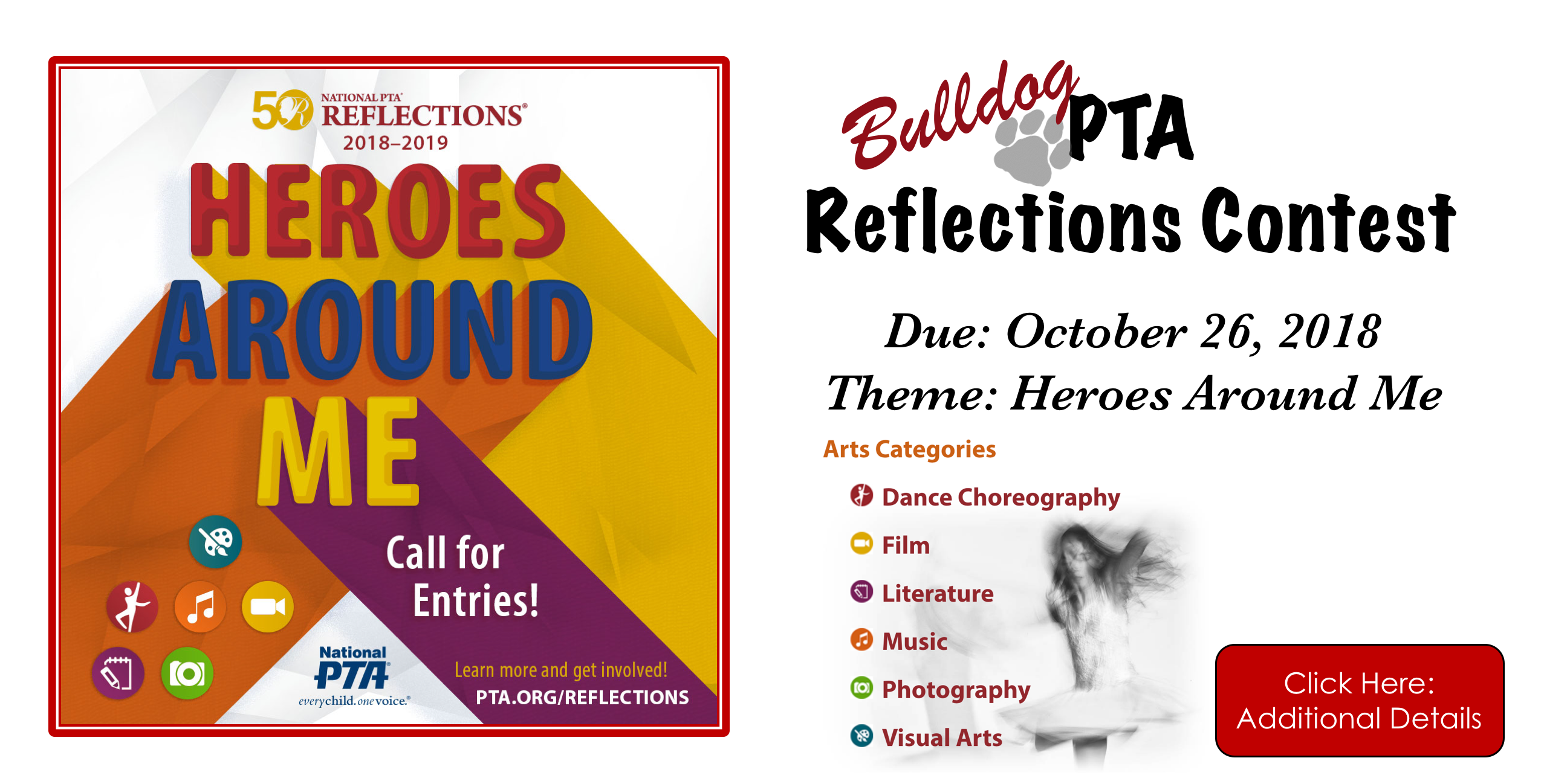 PTA Reflections Contest - Click here for more information