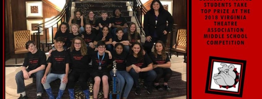 Berkeley Middle School Theatre Students Take Top Prize at the 2018 Virginia Theatre Association Middle School Competition