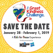 save the date - The Great Kindness Challenge Jan 28 - Feb 1