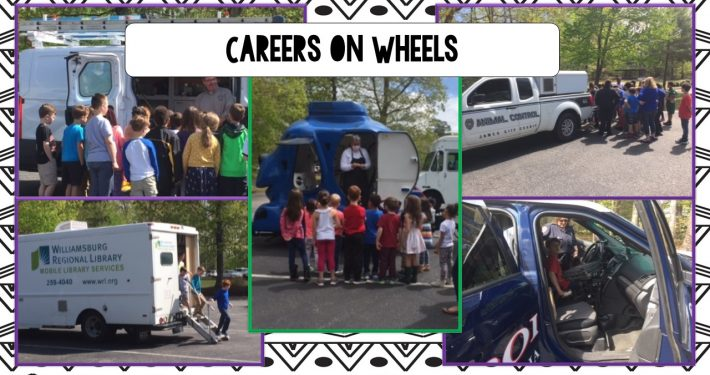 DJ Montague Students participated in Careers on Wheels, meeting a variety of community members and learning about career opportunities.