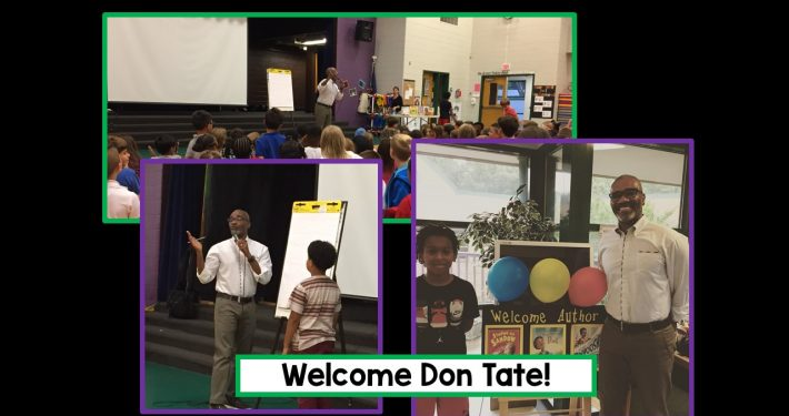 Author and Illustrator Don Tate visits.