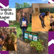 Author Angela Dominguez visits DJ Montague.