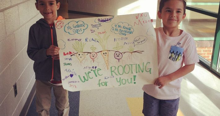 Mustangs support one another during SOL testing.