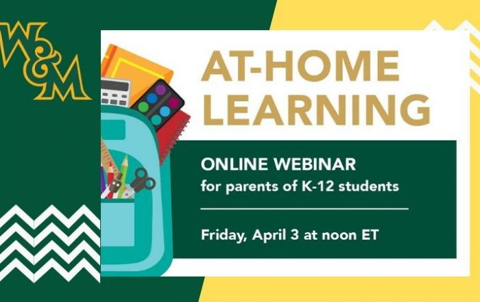 William & Mary At-Home Learning Webinar