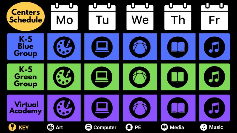Centers Virtual Schedule