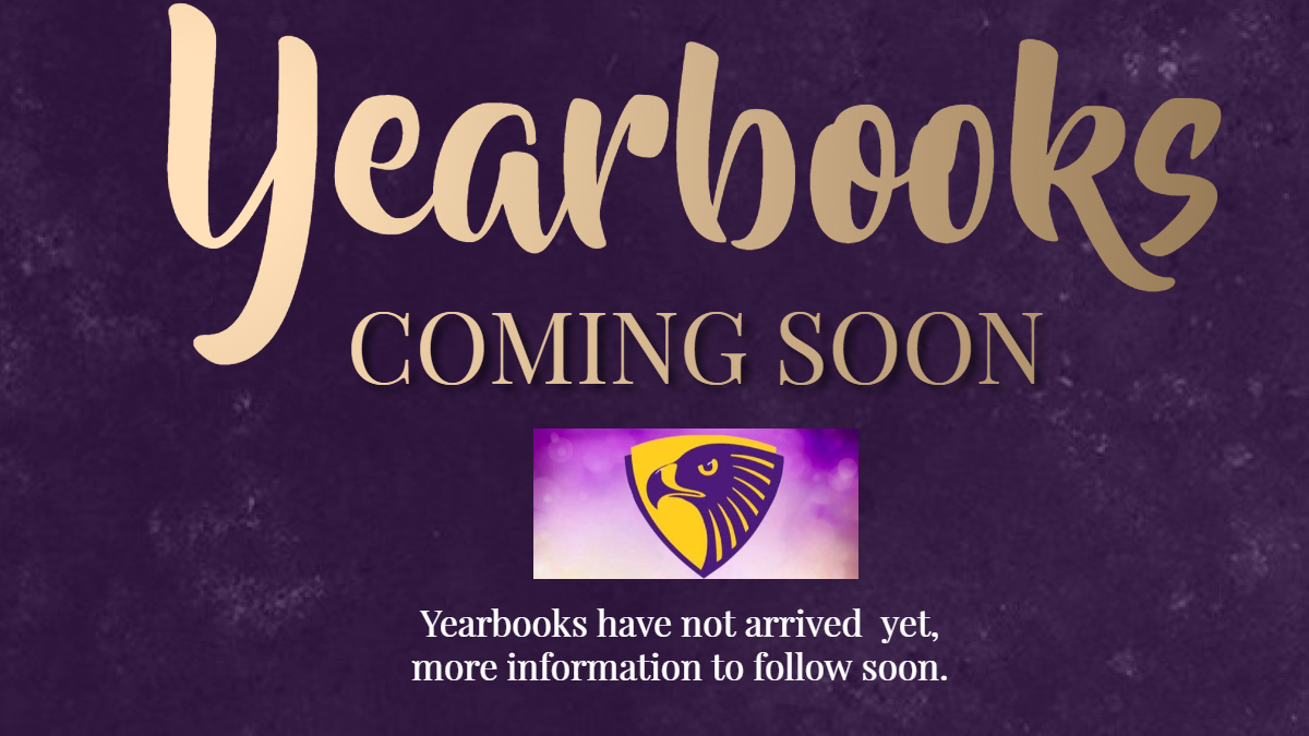 Yearbooks Coming Soon