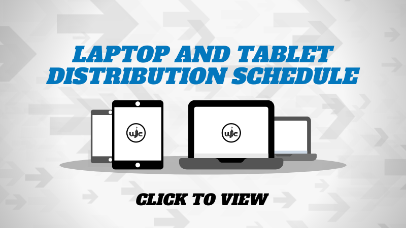 Laptop and Tablet Distribution Schedule