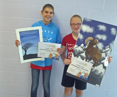 2016 occasion for the arts honorable mention winners Rebekah Hines and Holly Dowling