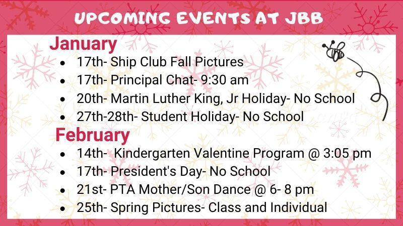 Upcoming Events at JBB