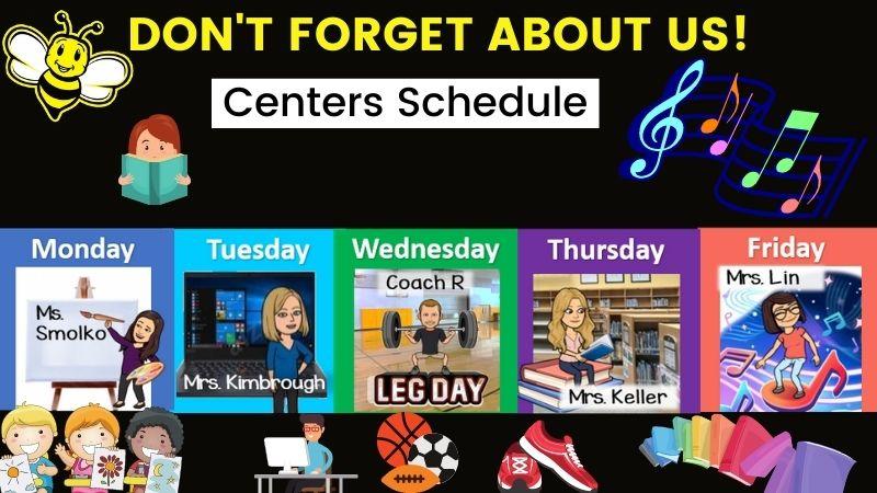 Centers Weekly Schedule