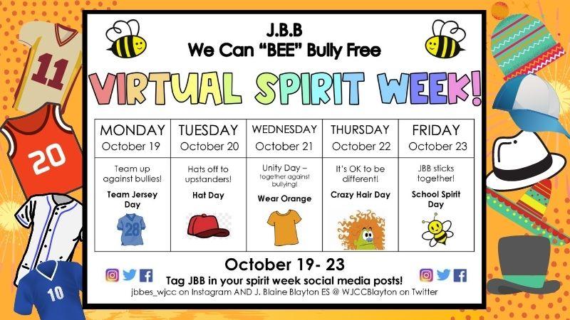 JBB Unity week calendar
