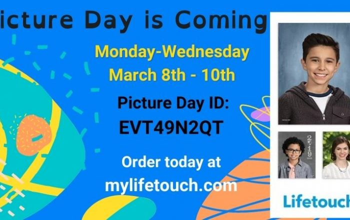 March 8-10th picture day at jbb