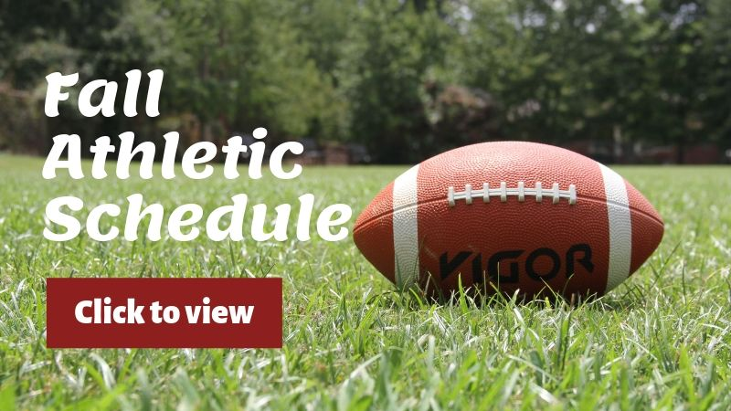 Fall Athletic Schedule