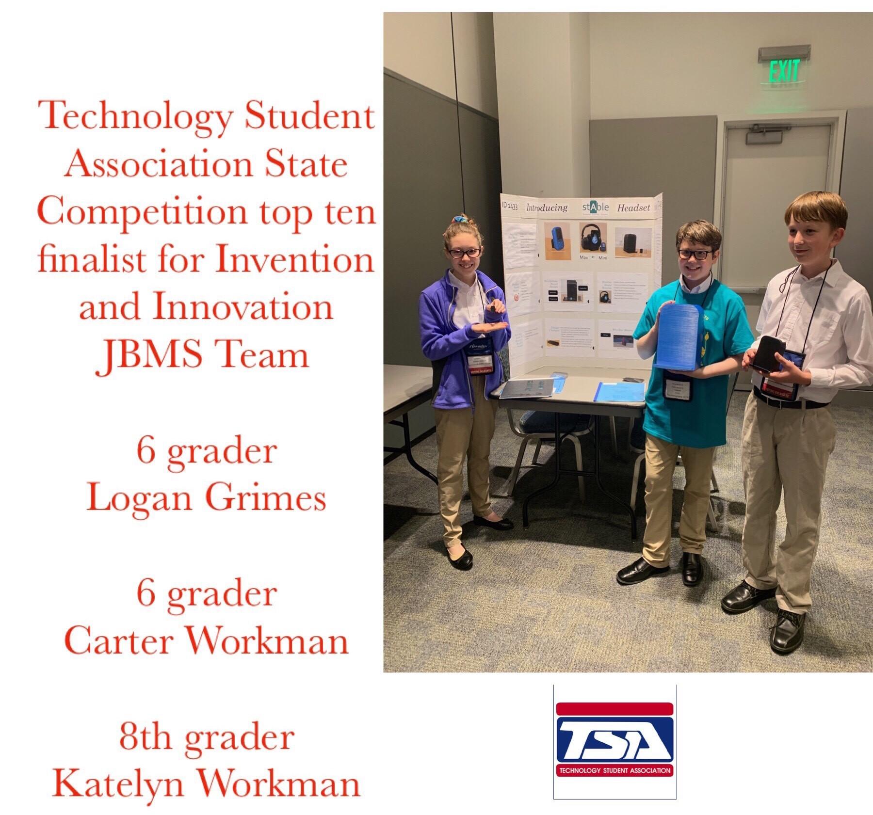 JBMS TSA Finalists 2019