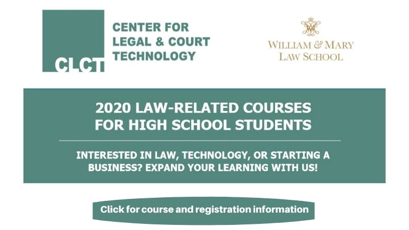 202 Law Related Courses for High School Students. Click for course and registration information.