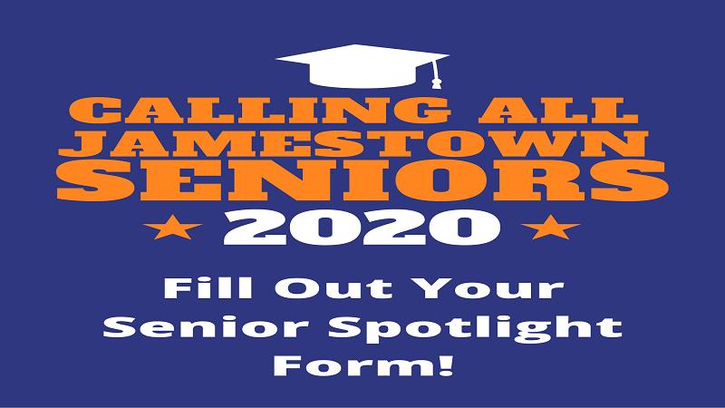 Class of 2020 Seniors, please fill out the senior spotlight form