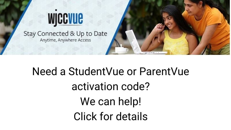Need a StudentVue or ParentVue Activation Code? We can help! Click for details.