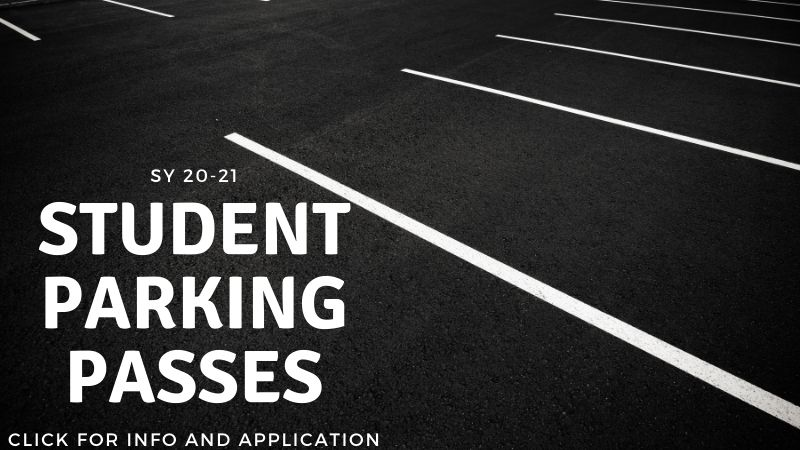 Student Parking Passes - click for info and application