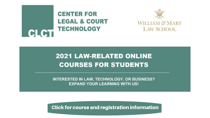 Summer Law-Related Online Courses for Students. Click for information