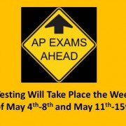 Testing Will Take Place the Week of May