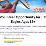 Volunteer Opportunity for JHS Eagles Ages 16+