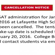 SAT Cancelled