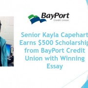 Senior Kayla Capeheart Earns $500 Scholarship from
