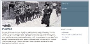 Puritans ELibrary Topic