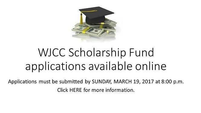 WJCC Scholarship Fund applications available online