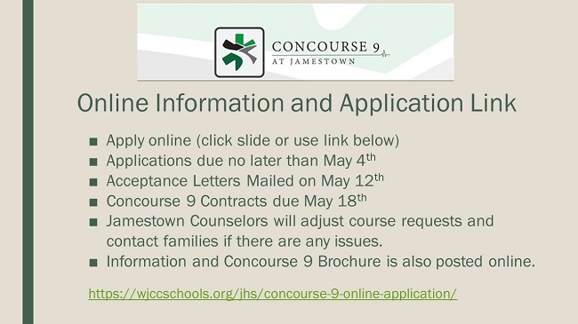 Concourse 9 Deadlines