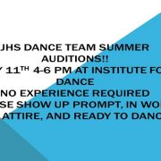 Dance team auditions