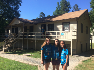Lisa Small.Sophia Liu.Jessica Shi.3rd.5th.4th in order.Top 10% Forestry Camp.6.24.2017