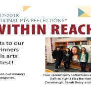 Congrats to our JHS PTA Reflections Winners! Four Jamestown Reflections award winners: Elsa Barrientos, Keara Cavanaugh, Sarah Barry and Jennie Well