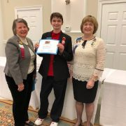 Congratulations to Shannon Hunter! She was presented a certificate by the Williamsburg Chapter of the Daughters of the American Revolution. She collected over 250 box tops for education to support the DAR schools that serve economically disadvantaged students in the Appalachian mountains-Great Job!