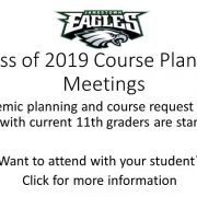 Course planning meetings for rising seniors are starting soon. Click for more information