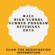 Information about WJCC HIgh School Summer Program Offerings. Click for information