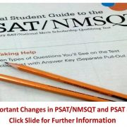 Important changes in PSAT 8/9 and PSAT-NMSQT