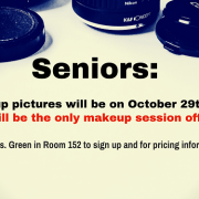 Make up day October 29th - see Mrs. Green for pricing and to sign up